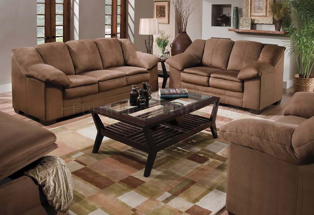 microfiber office chair stool adjustable jaguar mocha specially treated sofa & loveseat set