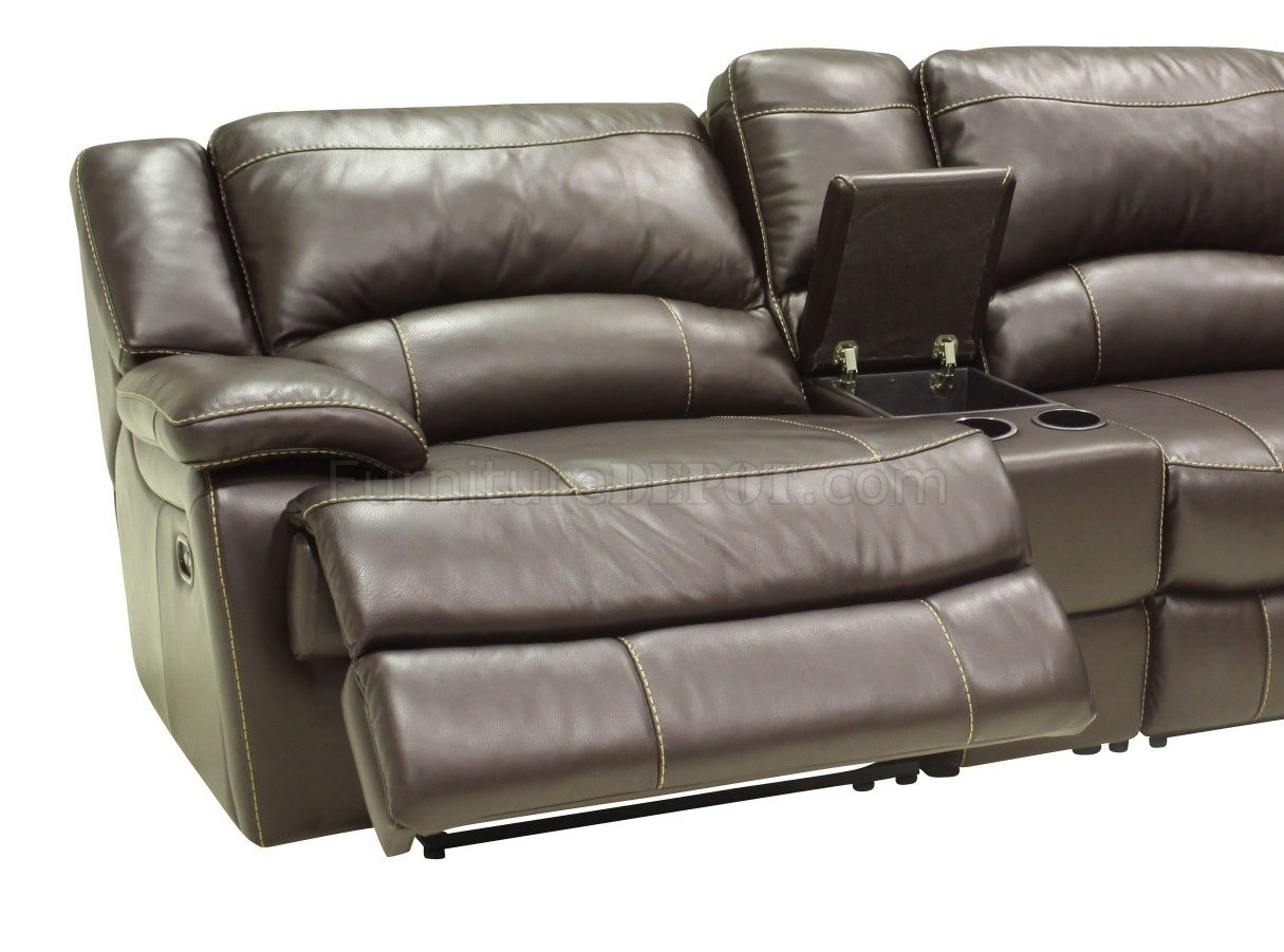 sofa reclinable 3 cuerpos ripley italian bed mechanism mahogany full leather reclining modern 5pc sectional