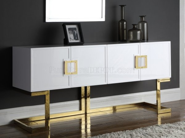 Beth Buffet Console Table 306 In White Meridian