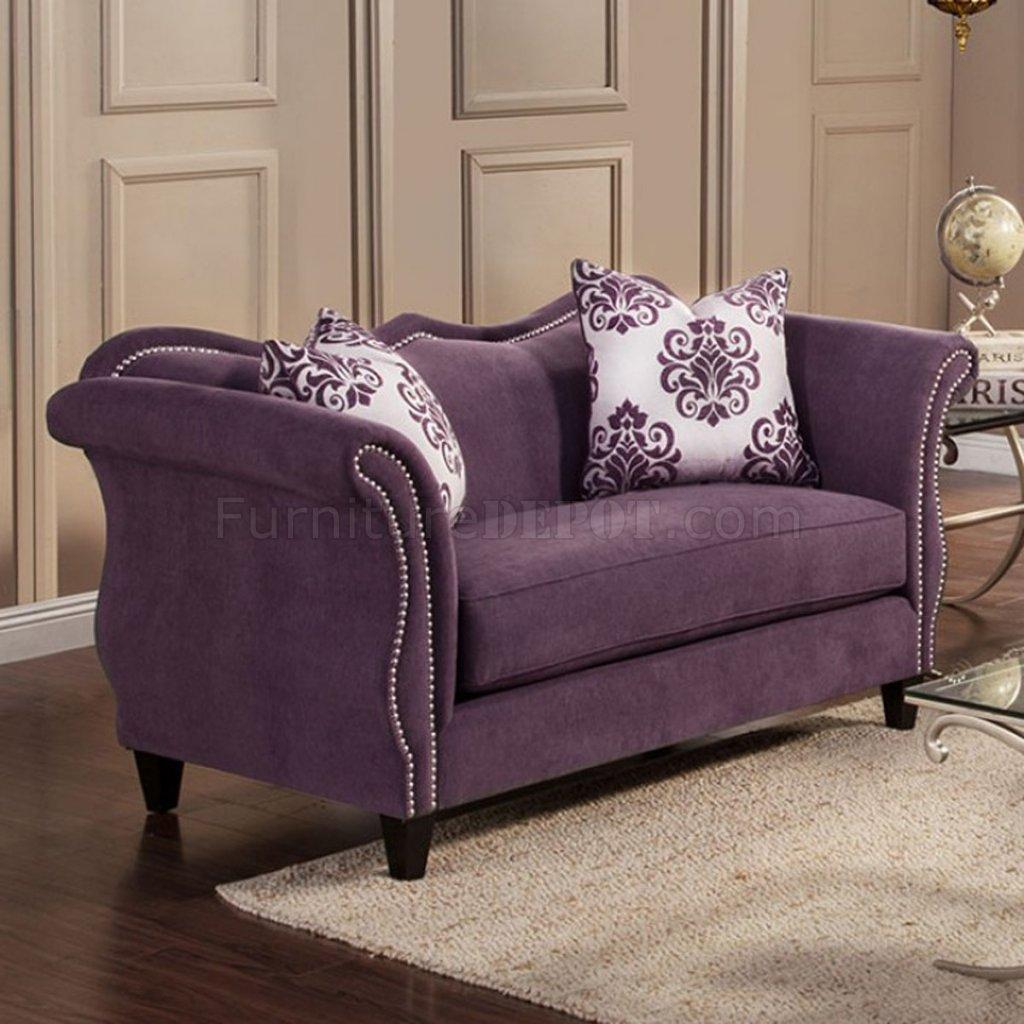 lavender sofa modern miami lilac loveseat violet purple