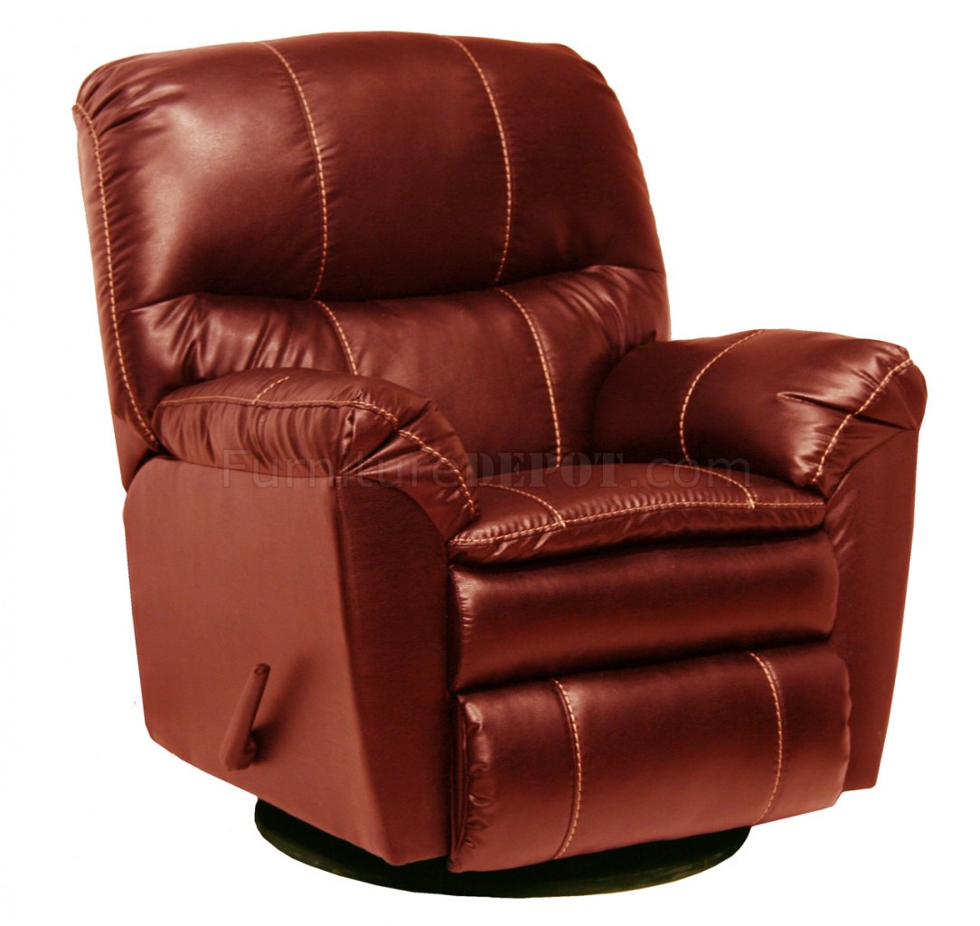 modern leather recliner swivel chair graco black and white high red touch cosmo glider