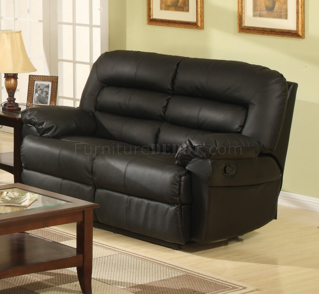 modern bonded leather sectional sofa with recliners nolan reclining fred meyer black full w optional