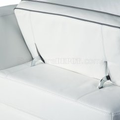 Agatha Sofa Reviews Rounded Corner 9097 Sectional In White Italian Full Leather By J Andm