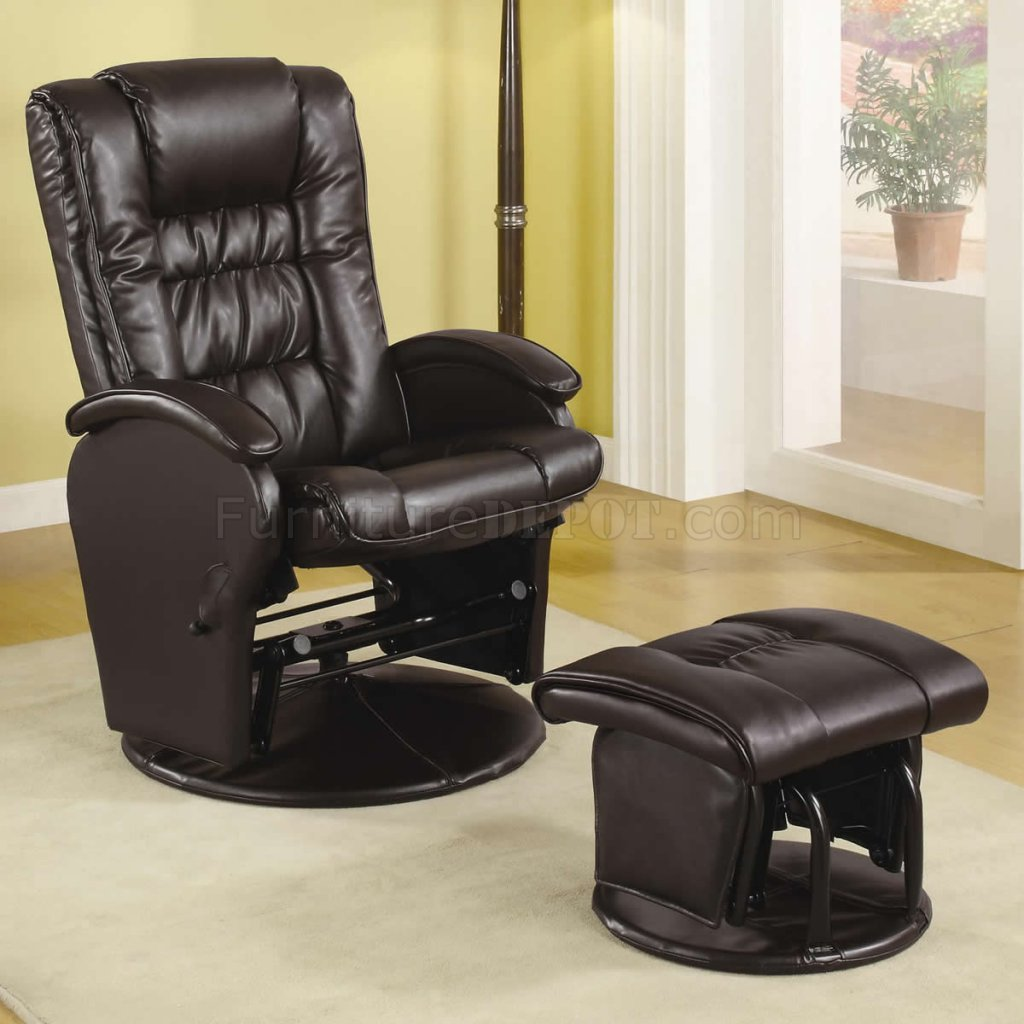 office chair club reviews recliner brown vinyl modern swivel glider w ottoman