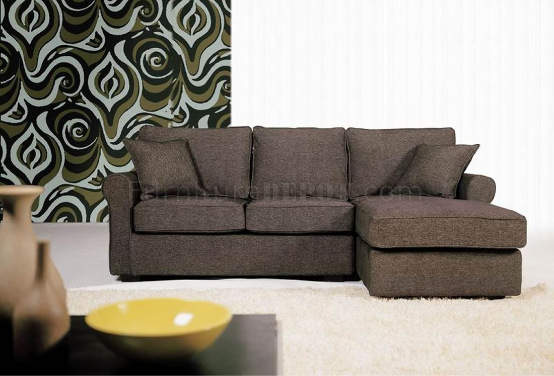 Small Brown Sectional Sofa