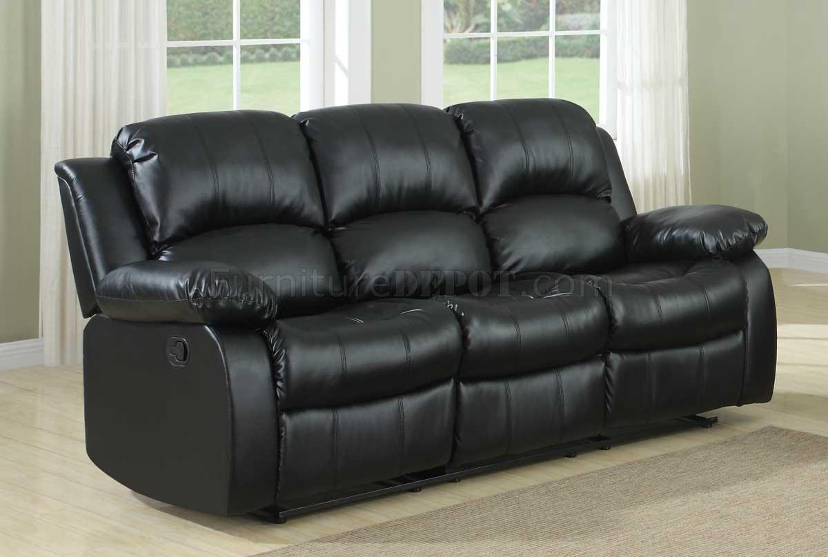 black bonded leather sofa louis xv reion cranley motion 9700blk