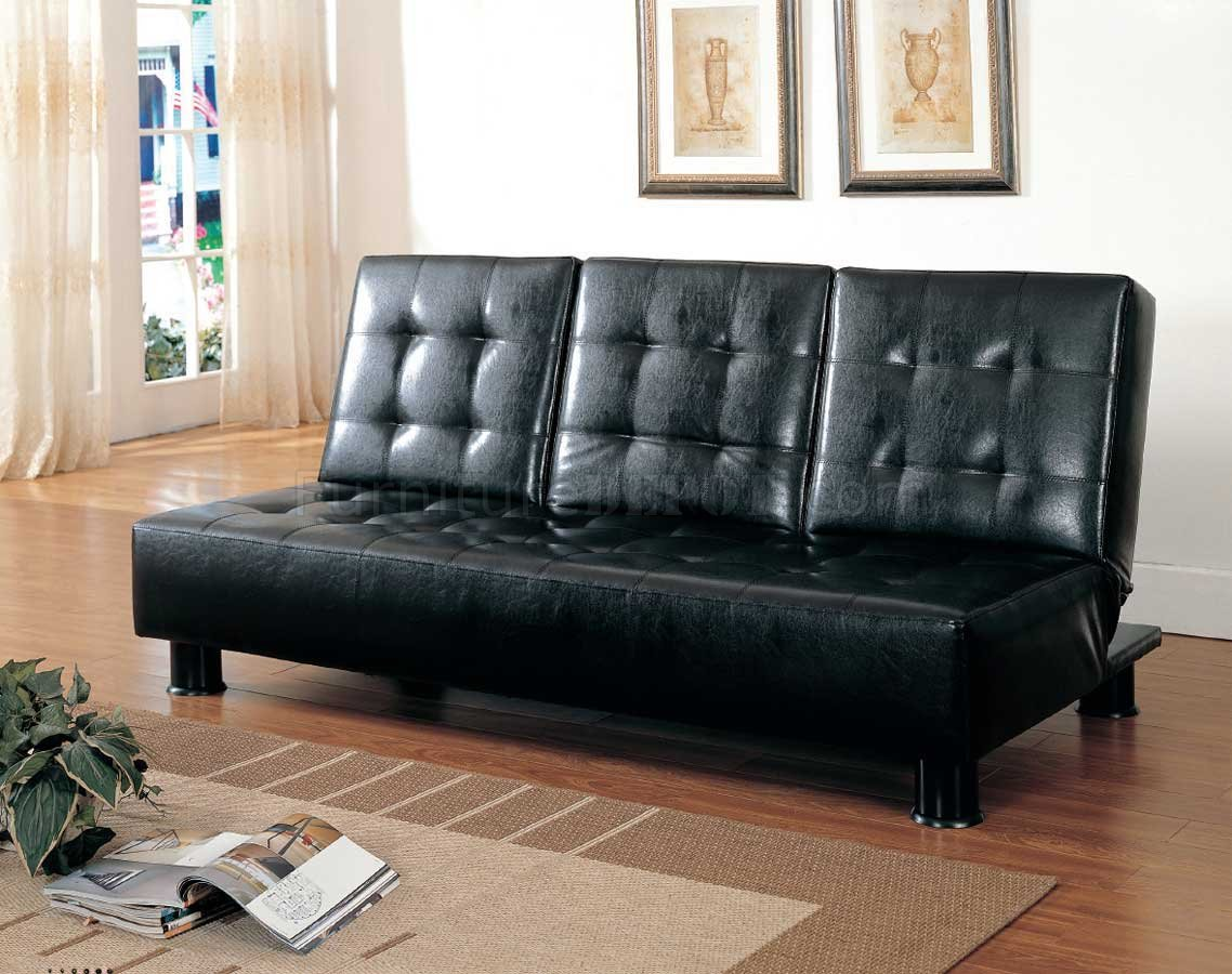 black vinyl futon sofa best filling for seats 4792pu bed in leather by homelegance