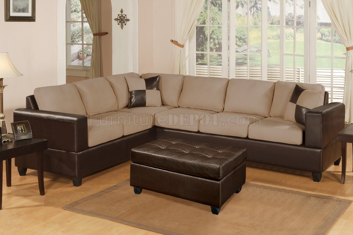 sectional sofas microfiber plush melbourne sofa review hazelnut modern w accent