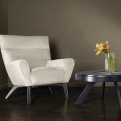 Cream Club Chair Ethan Allen Leather Chairs Sahara Plush Chenille Fabric Laguna Modern