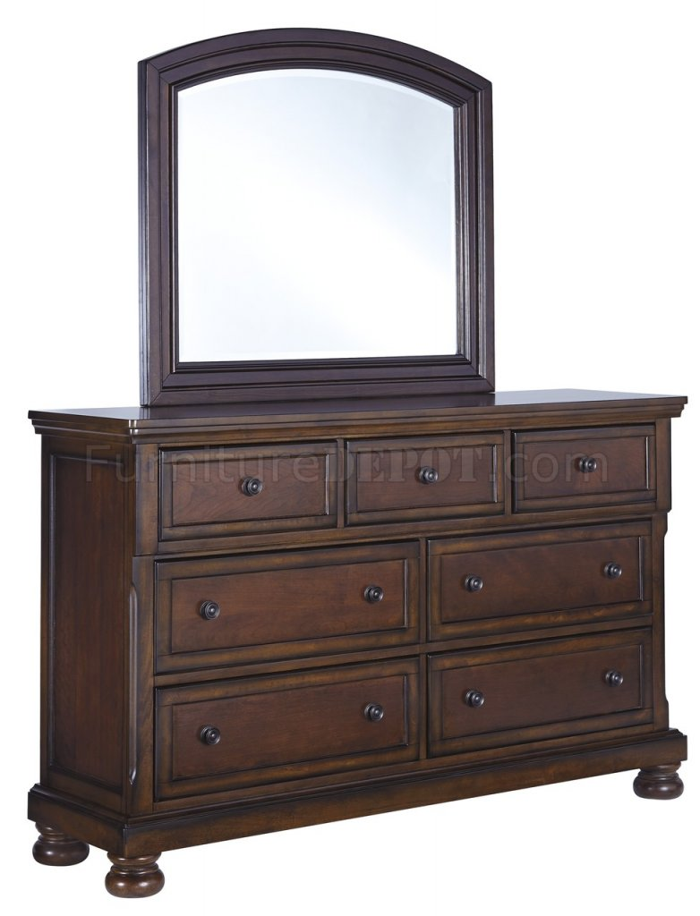 Porter Bedroom B697 in Burnished Brown wStorage Bed by Ashley