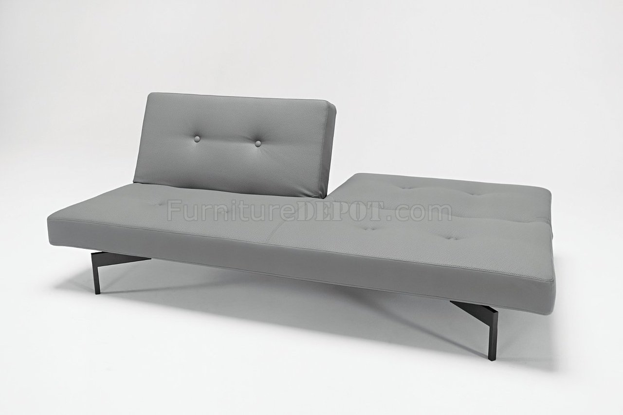 grey modern sofa bed steel pipe design or white leatherette by innovation living