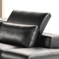 Sofa Headrest Istikbal Bed London Black Full Leather Modern Sectional W Adjustable