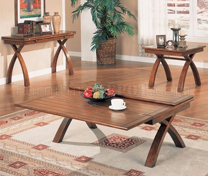 decorating with dark leather sofa bjs covers oak finish extendable elegant coffee table w/x shape legs
