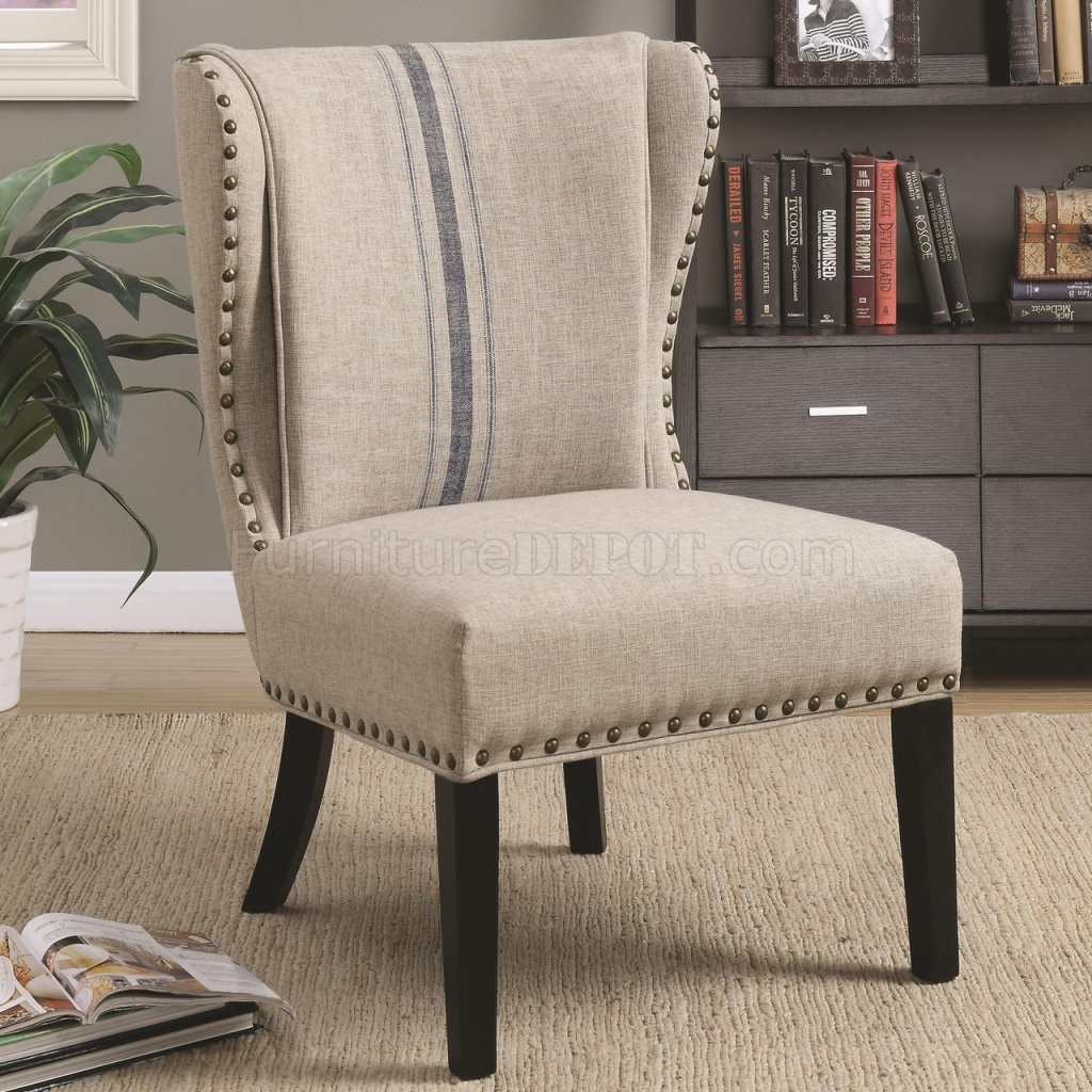 902496 Accent Chair Set of 2 in Grey Fabric by Coaster
