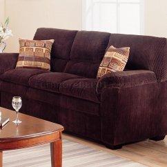 Corduroy Fabric Sofa Half Round Modern Living Room 502521 Dark Chocolate