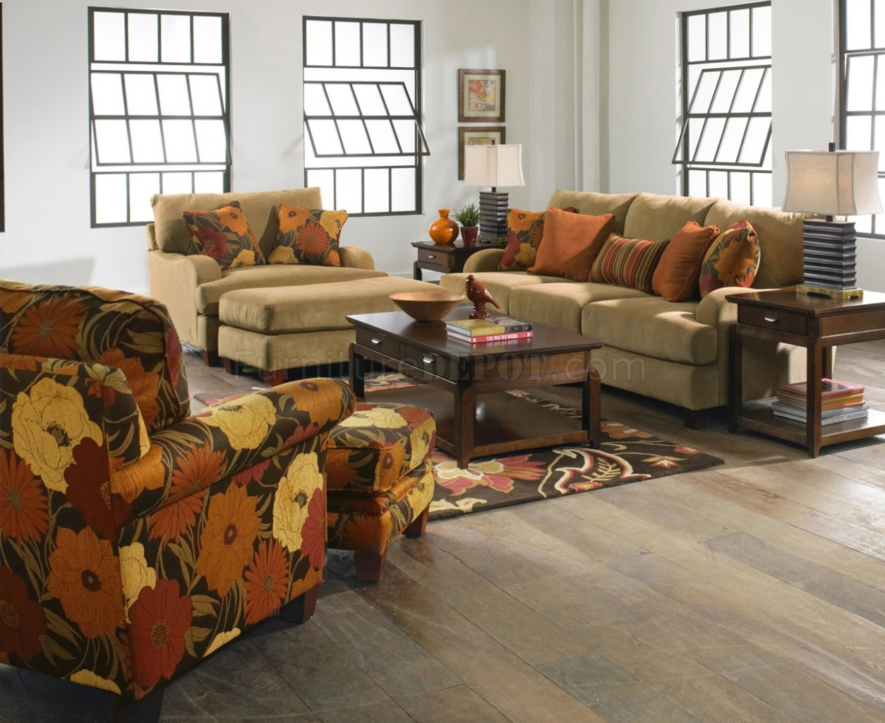 Jackson Furniture Nugget Fabric Hartwell Sofa  Loveseat Set
