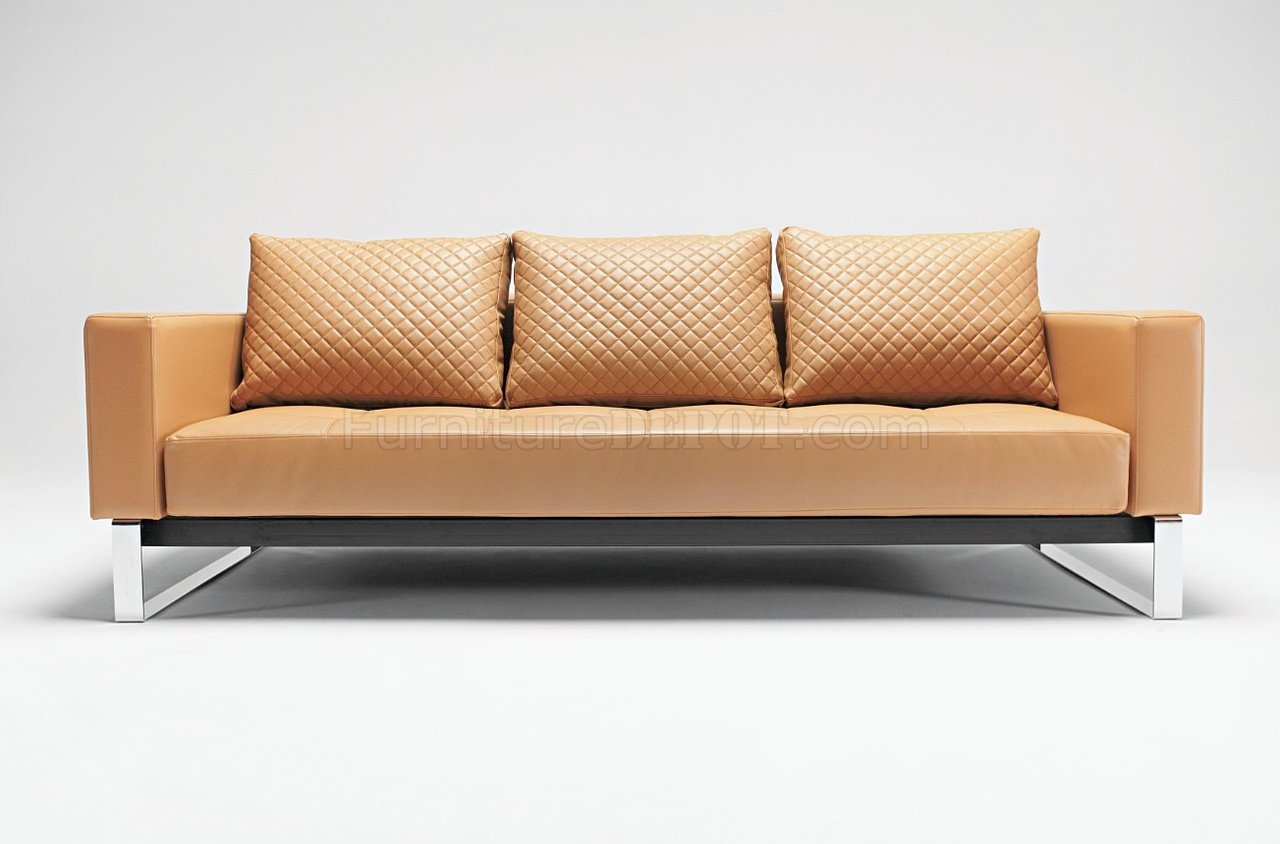 Cassius Deluxe CamelBlackWhite Sofa Bed by Innovation