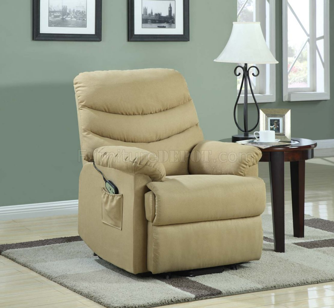 power recliner sofa canada best compact sectional elevated lift chair 9769 in beige fabric by homelegance