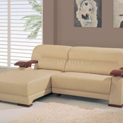 Wooden Sectional Sofa Stetson Ridge Beige Leather 2 Pc Contemporary W Arms