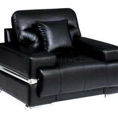 Leatherette Sofa Durability Children S Flip Out Cover Zibak Cm6411bk In Black W Options