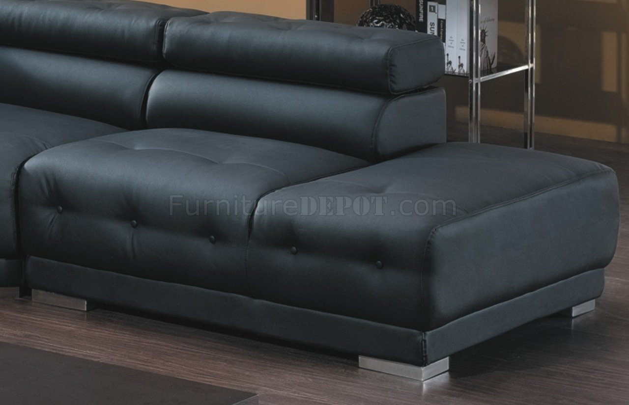 t57b ultra modern leather sectional sofa slip covers canada 8097 in black by american eagle