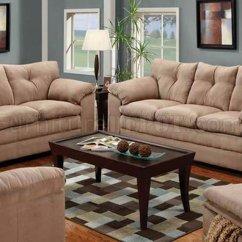 Contemporary Sofas And Loveseats Atlanta Sofa Reupholstery Tan Micro Suede Loveseat Set