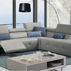 White Curved Sectional Sofa Large Crossword Nexus S300 Reclining In Premium Leather By J&m