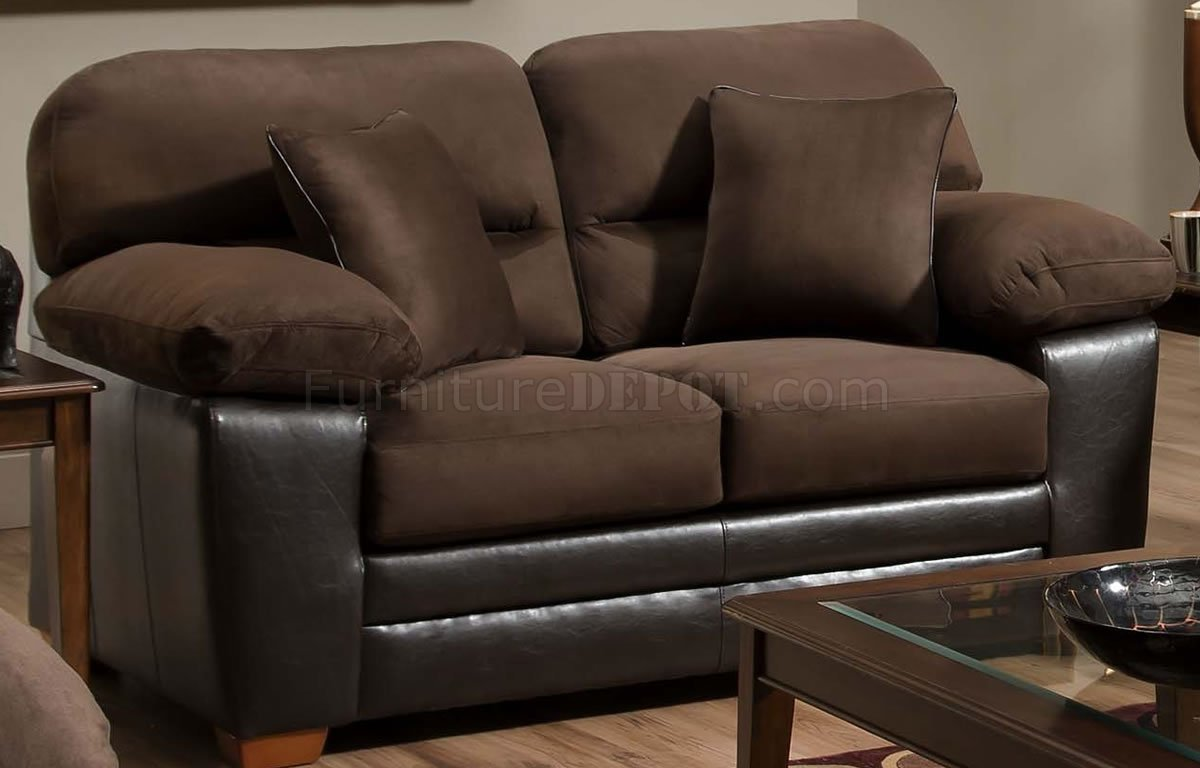 brown accent pillows sofa flip for toddlers godiva microfiber and loveseat set w