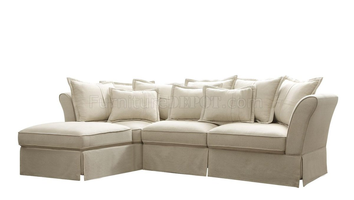 500910 Karlee Sectional Sofa by Coaster in Linen Fabric
