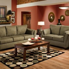 Camel Colored Leather Sofas Beckett Sofa Bernhardt Olive Microfiber Modern Casual & Loveseat Set W ...