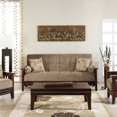 Wood Frame Living Room Furniture Contemporary For Fume Microfiber W Wooden Sleeper Sofa