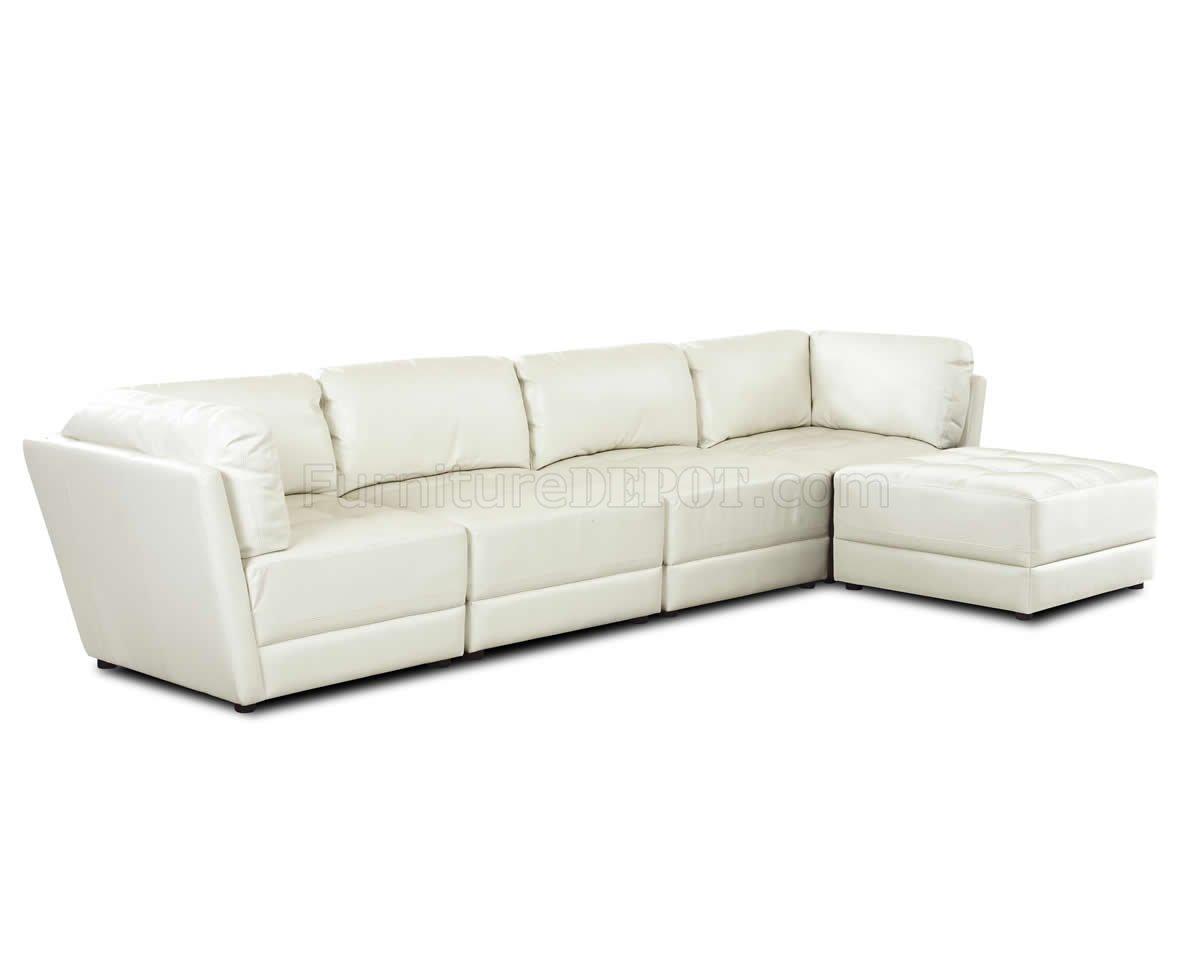 white tufted leather sofa cheap sydney bonded stylish sectional w seats