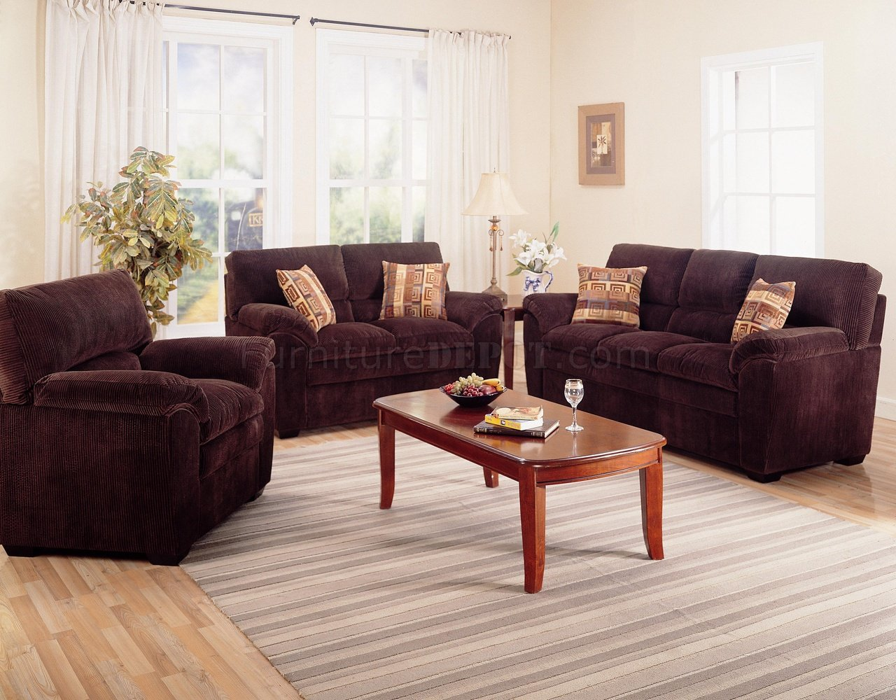 modern living room couches log home decorating ideas corduroy fabric 502521 dark chocolate sofa w options