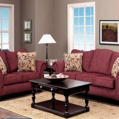 Burgundy Sofa And Loveseat Pictures Of Sofas With Pillows Fabric Classic Set W Options
