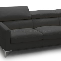 J M Paquet Sofa Single Bed Singapore 1281b Sectional In Black Full Leather By Andm