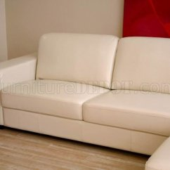 3 Sided Sectional Sofa Dark Gray Corner Modern In Ivory Leather