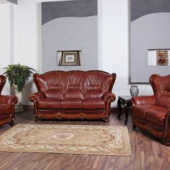 Classic Italian Leather Sofa Support Legs 100 In Genuine By Esf W Optional Loveseat And Chair