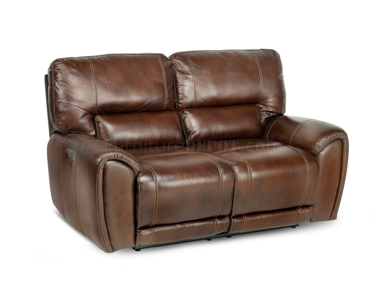 caruso leather 5 piece power motion sectional sofa sectioal sofas clark and loveseat cognac match by