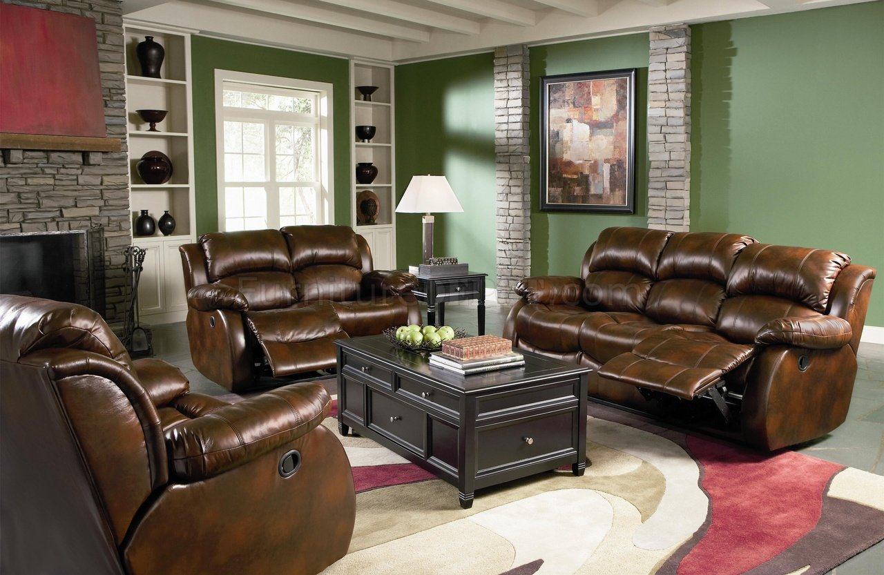 Dark Brown Full Bonded Leather Casual Living Room Sofa w