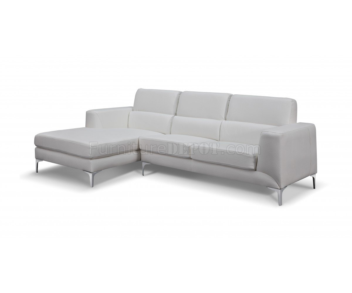 contemporary leather sofas sydney sofa kauf auf rechnung sectional in white faux by whiteline