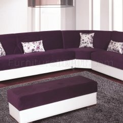 3 Piece Microfiber Sectional Sofa With Chaise Mint Green Throw Purple Ligne Roset ...