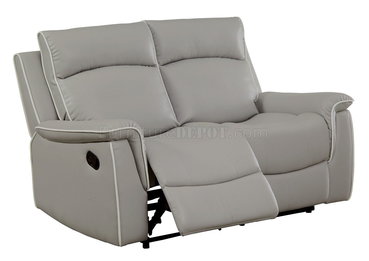 motion sofa set kensington luxury multi storage bed salome and loveseat cm6798 in light gray w