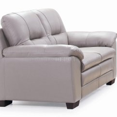 Light Grey Leather Sofa Luke Macy Emma 435003 And Loveseat In By New Spec