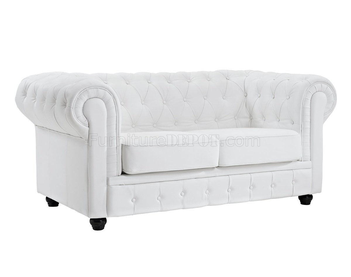 chesterfield sofa leather white professional cleaning cost london in by modway w options