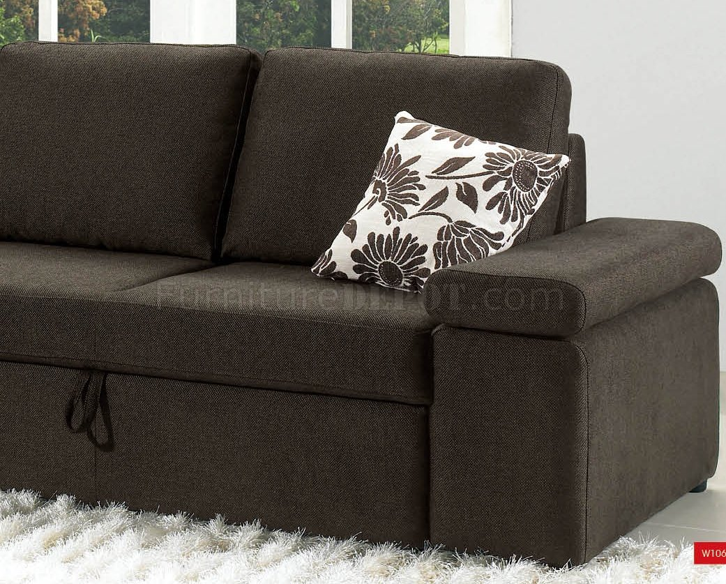 loft charcoal sofa bed mustard brown fabric modern sectional w pull out