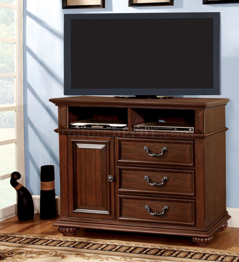 CM7811 Landaluce TV Stand In Antique Style Dark Oak