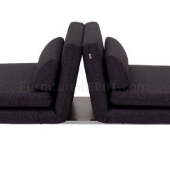 Black Fabric Sofa Chair Wicker Indoor Lk06 2 Bed In By J Andm Furniture