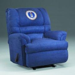 Resistance Chair Accessories Black White Accent Blue Fabric Modern Rocker Recliner W/us Air Force Emblem
