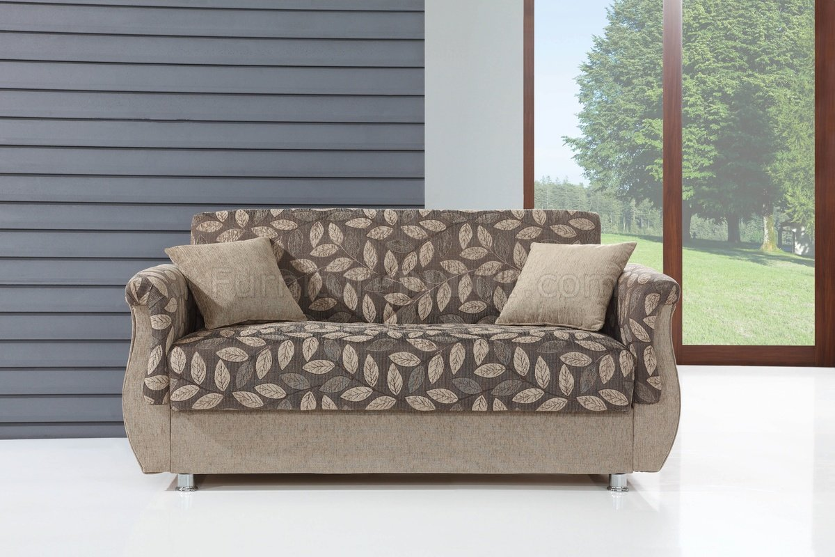 chestnut colored leather sofa target sleeper mattress bed in two tone fabric by empire w options