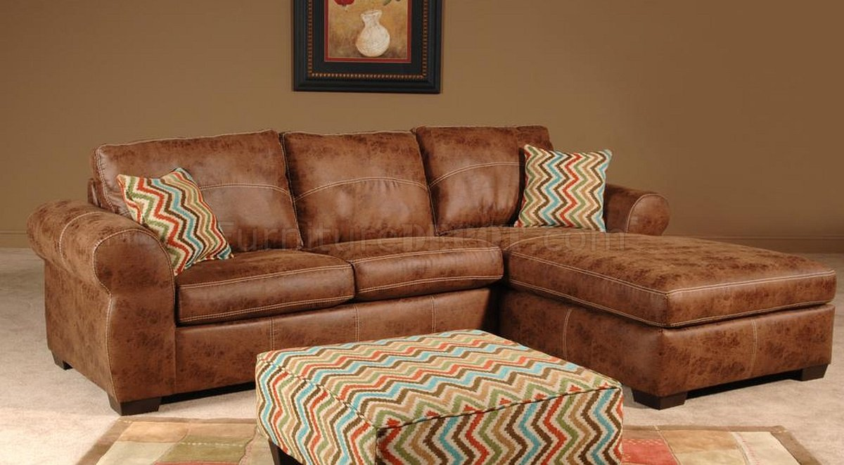 201110 Leah Sectional Sofa in Chestnut Vinyl by Chelsea